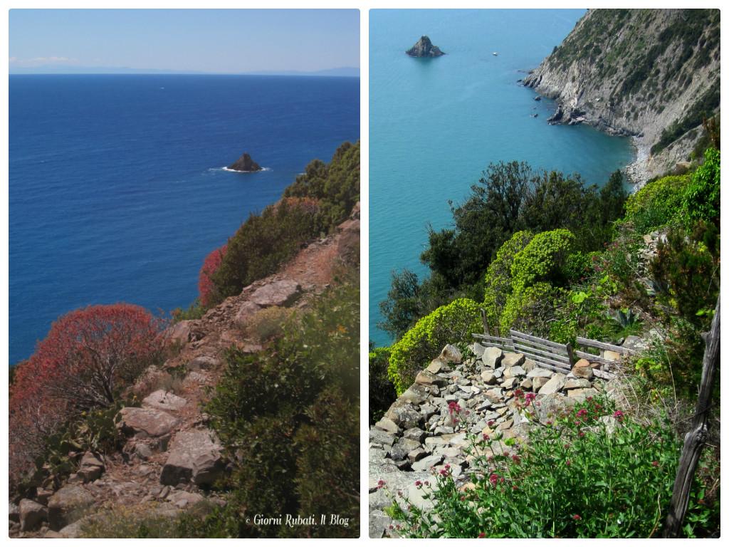 Campiglia, La Spezia, scorci sul mare