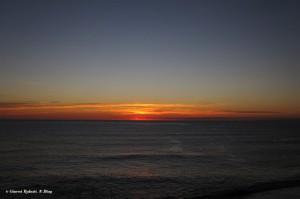 Un imperdibile tramonto sul mare