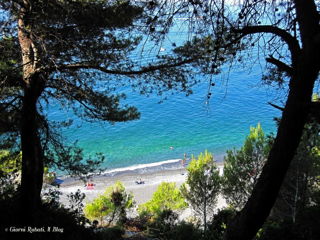 La spiaggia di Punta Corvo, Montemarcello (SP)