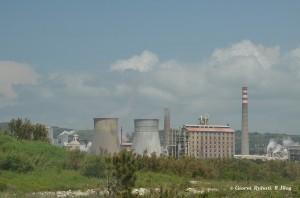 Rosignano Solvay, la fabbrica