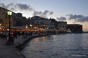 Chania, Creta, lungomare al crepuscolo