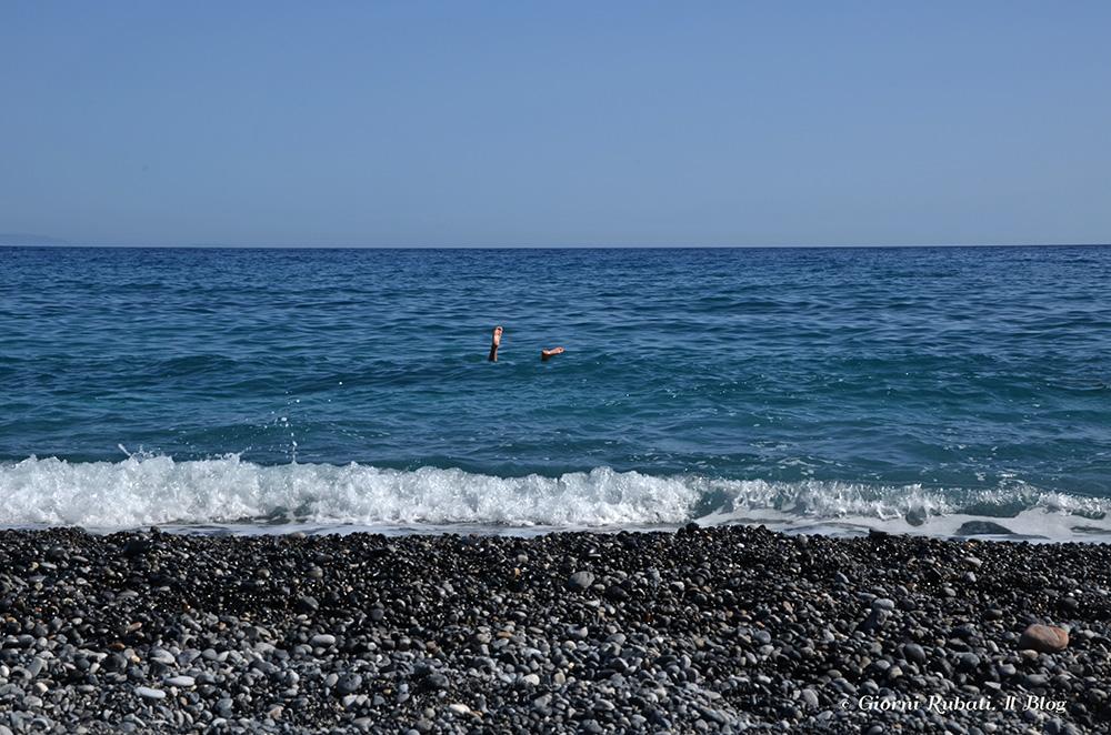 Agia Roumeli, Creta, la spiaggia