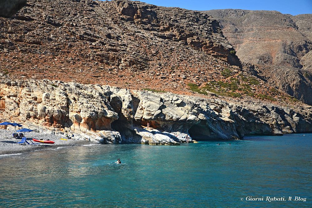 grotte bianche, spiaggia di Marmara, Creta