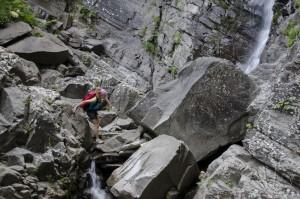 Lunigiana, torrente Verde: verso la cascata