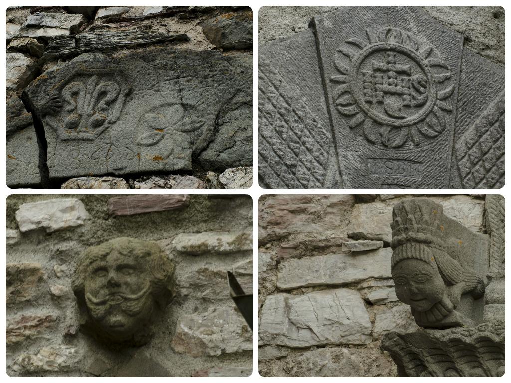 Camporaghena, Lunigiana: facion e bassorilievi in pietra