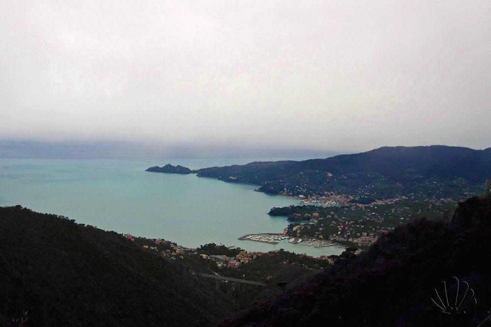 panorama sul golfo del Tigullio