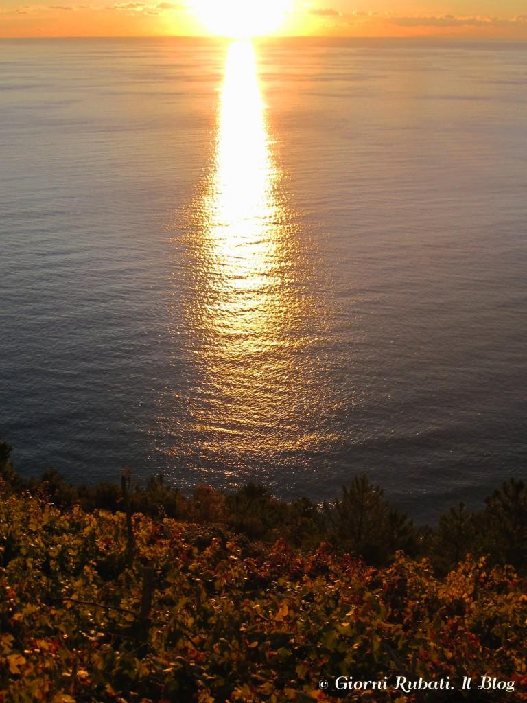 Volastra, Cinque Terre: tramonto sul mare