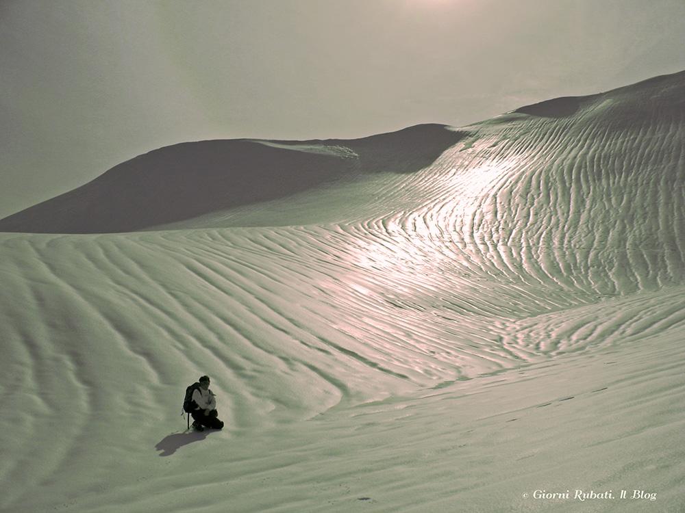 nei prati del Sillara con la neve
