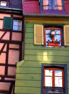 Colmar, finestre colorate