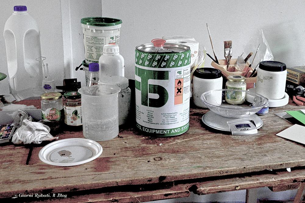 laboratorio di restauro: i ferri del mestiere