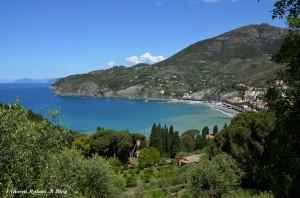 la baia di Levanto, dal sentiero per Monterosso