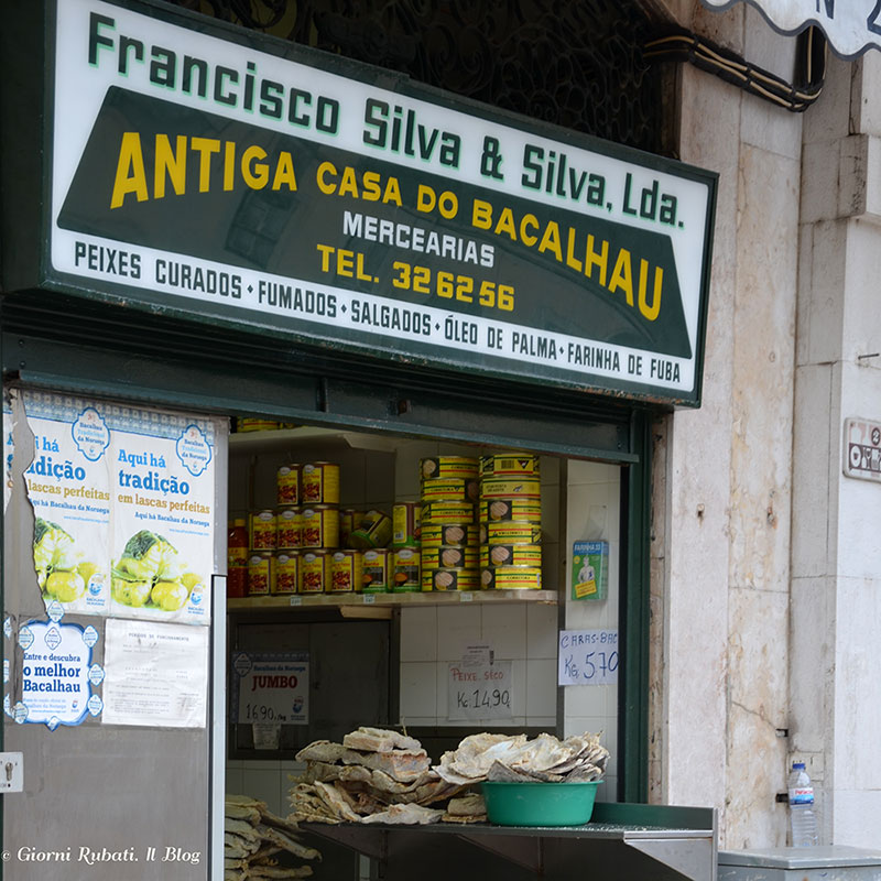 Lisbona, casa de bacalhau