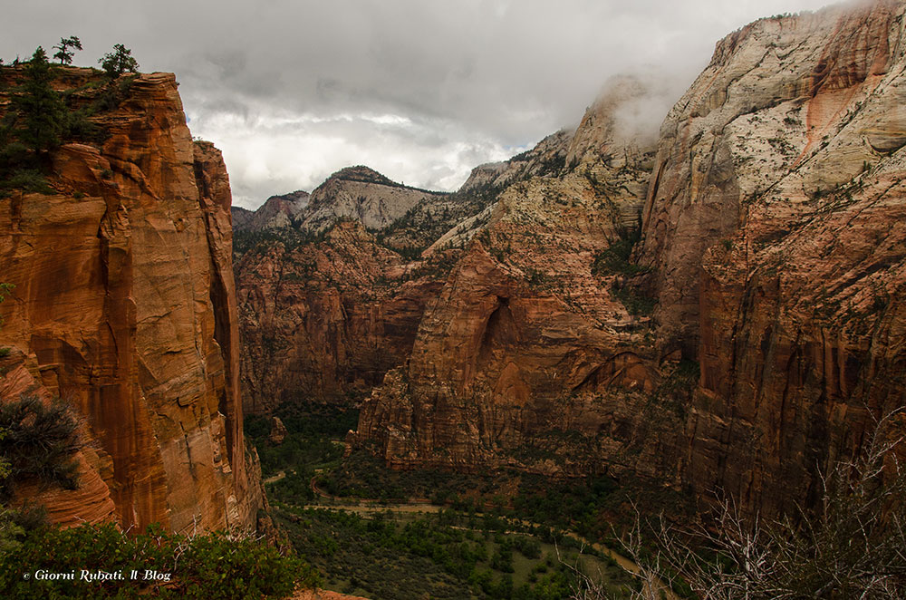 Panorama dallo Scout Lookout, Angels Landing, Zion National Park