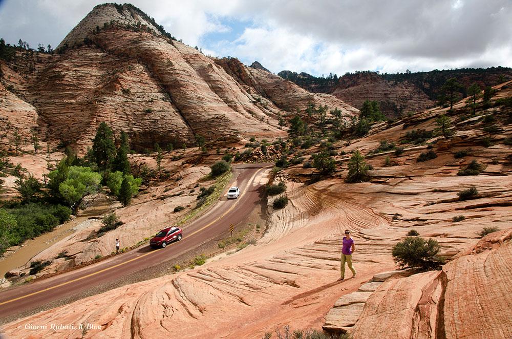 Lo Zion Plateau dalla scenic byway