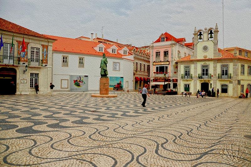 Cascais,Portogallo, la Piazza