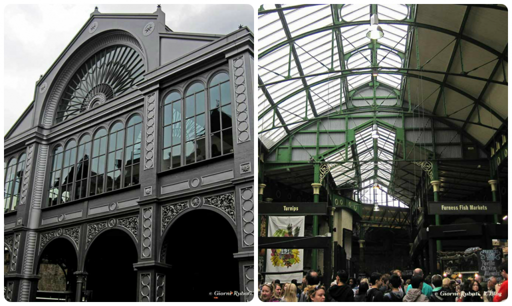 Borough market, Londra: esterno ed interno.