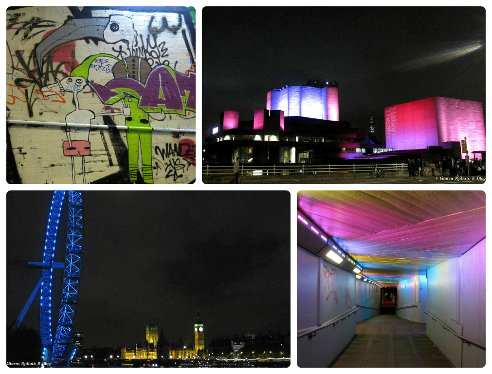 South bank by night, Londra