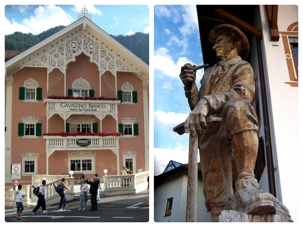 Ortisei e monumento a Luis Trenker