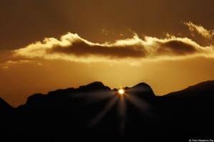 Barga: doppio tramonto.Ph. Massimo Pia