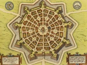 Palmanova, mappa progettuale del 1600