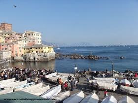 Genova, veduta su Boccadasse, racconti di viaggio