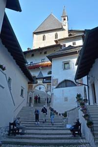Santuario di San Romedio, val di Non: entrata
