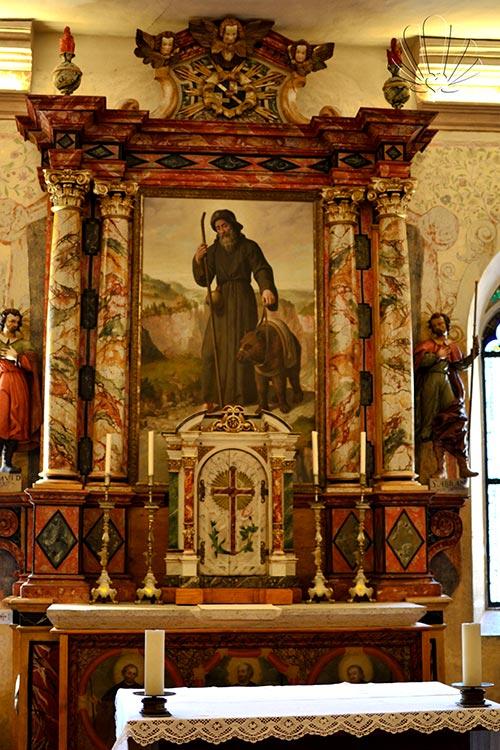 Santuario di San Romedio, iconografia del Santo nell'ultima cappella