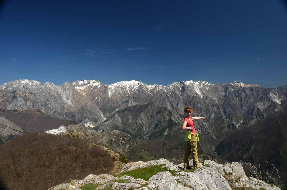 Alpi Apuane, Toscana. panorama dal m. Brugiana