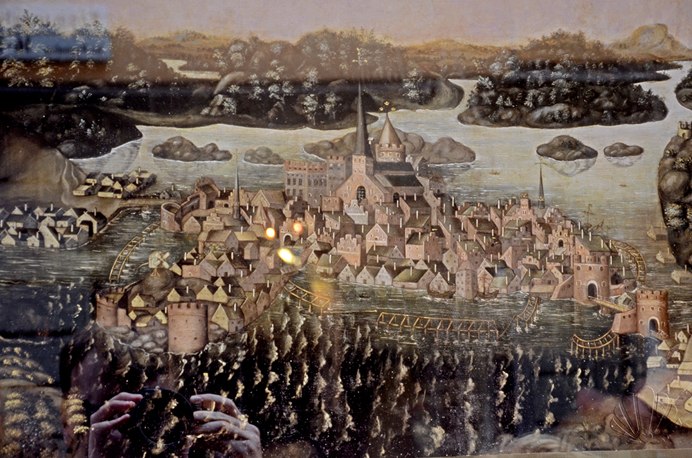 Stoccolma com'era in una vecchia mappa in vendita da un antiquario