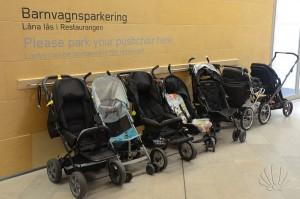 Parcheggio per passeggini, Moderna Museet, Stoccolma