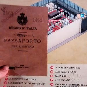 Il passaporto per cominciare l'avventura al museo Memorie e Migrazioni