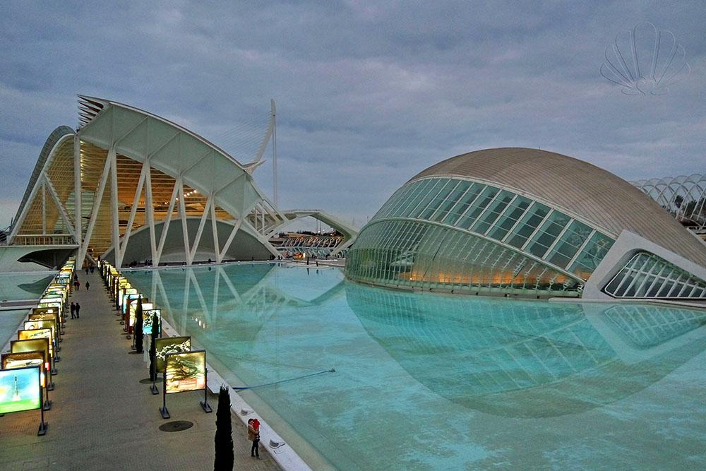 L'evocativo scenario della Città delle Arti e delle Scienze, Valencia