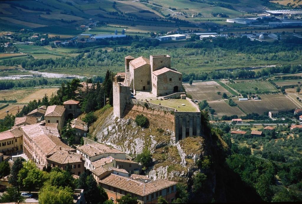 Castello di Verucchio in provincia di Rimini