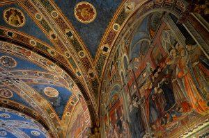 Siena, Santa Maria della Scala: particolare del Salone del Pellegrinaio