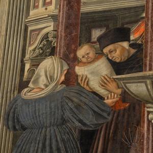 Siena, Santa Maria della Scala: il rettore consegna un gettarello alla balia