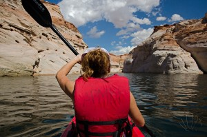 Il lago Powell, Page, Arizona, durante la nostra kayakkata