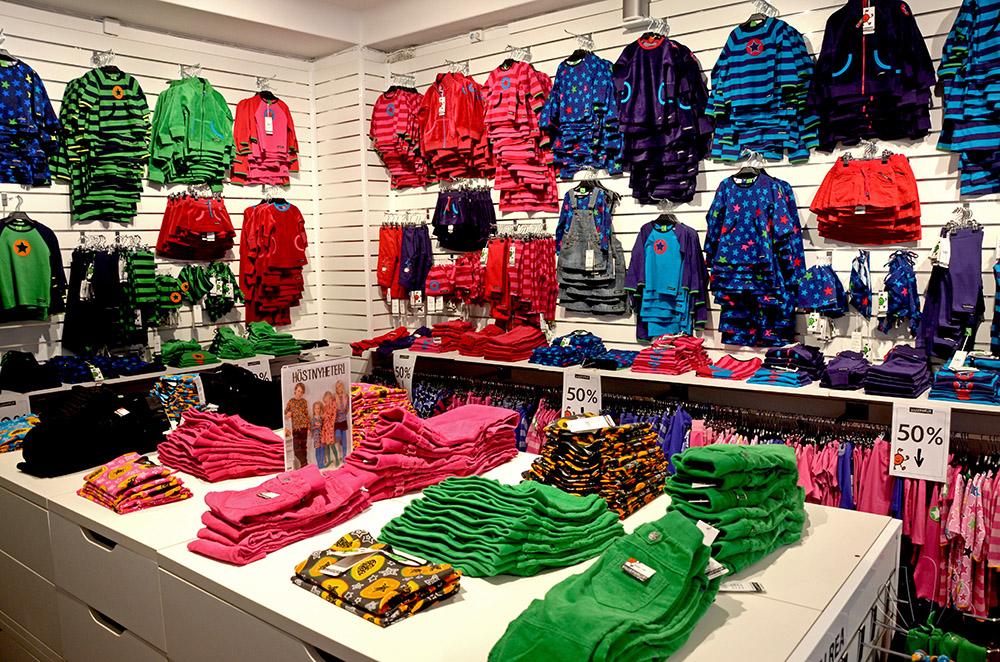 Interno di un negozio monomarca svedese a Stoccolma