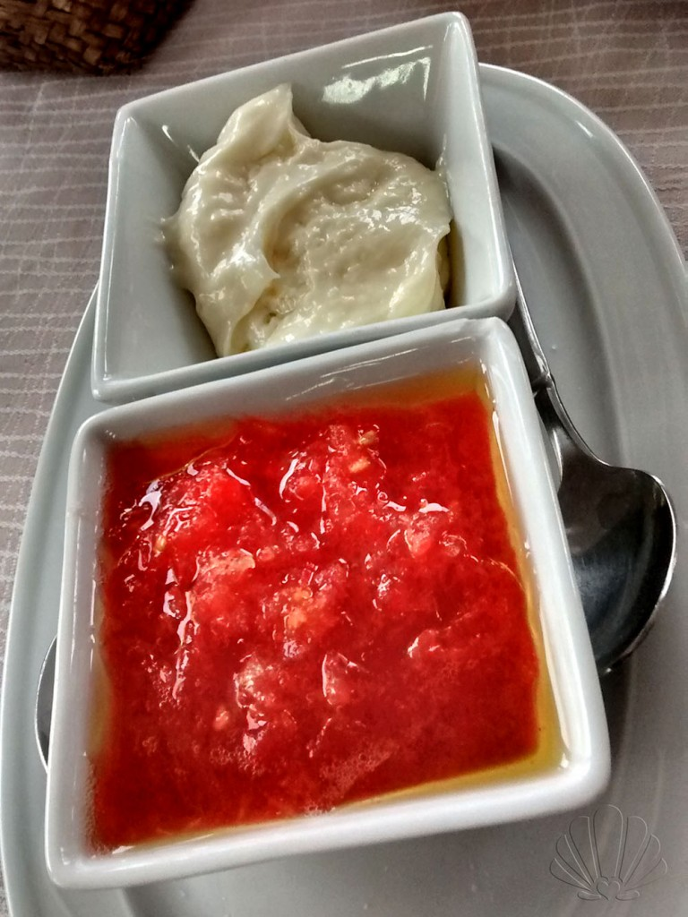 salsa aioli e pomodoro da gustare col pane abbrustolito