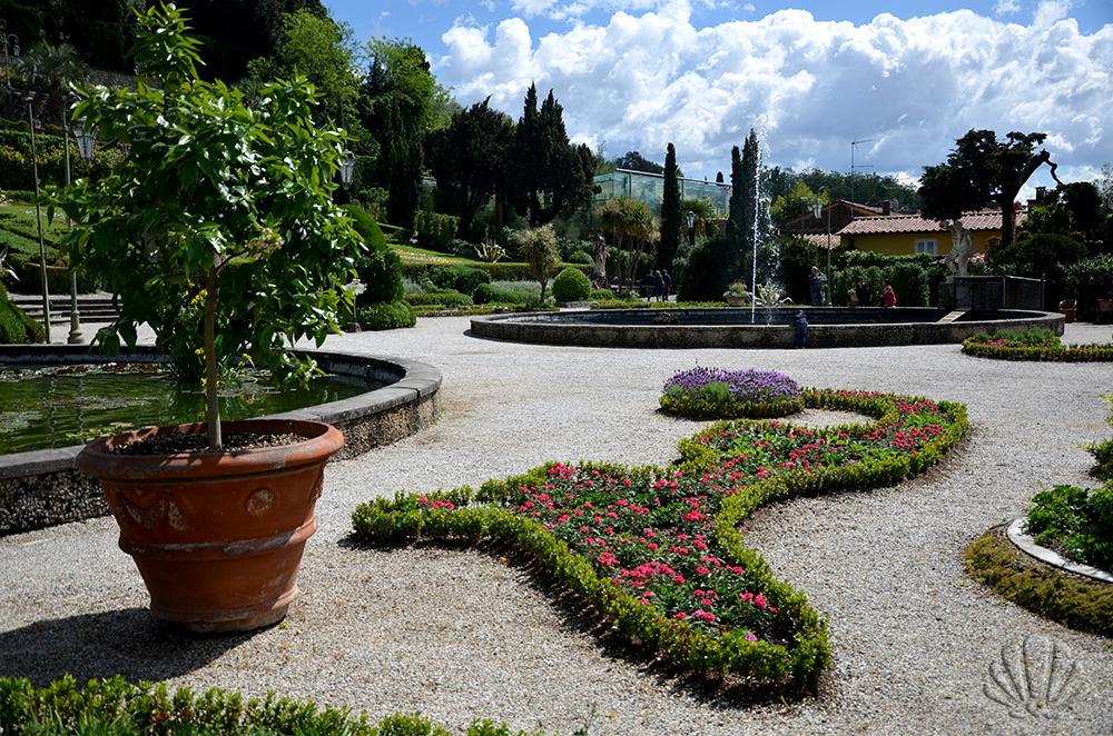 Il parterre delo storico Giardino di Villa Garzoni