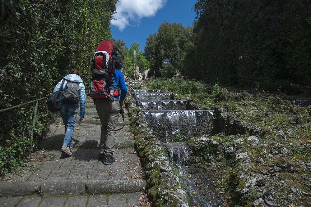 Sulla scala dell'acqua, Giardino di Villa Garzoni, Pescia