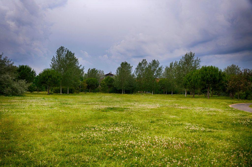 Il parco di Villa Panzini, la Casa Rossa di Bellaria