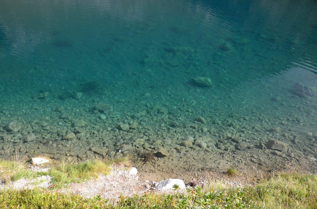 mare? No, quest'acqua limpida quella del lago Ritorto..