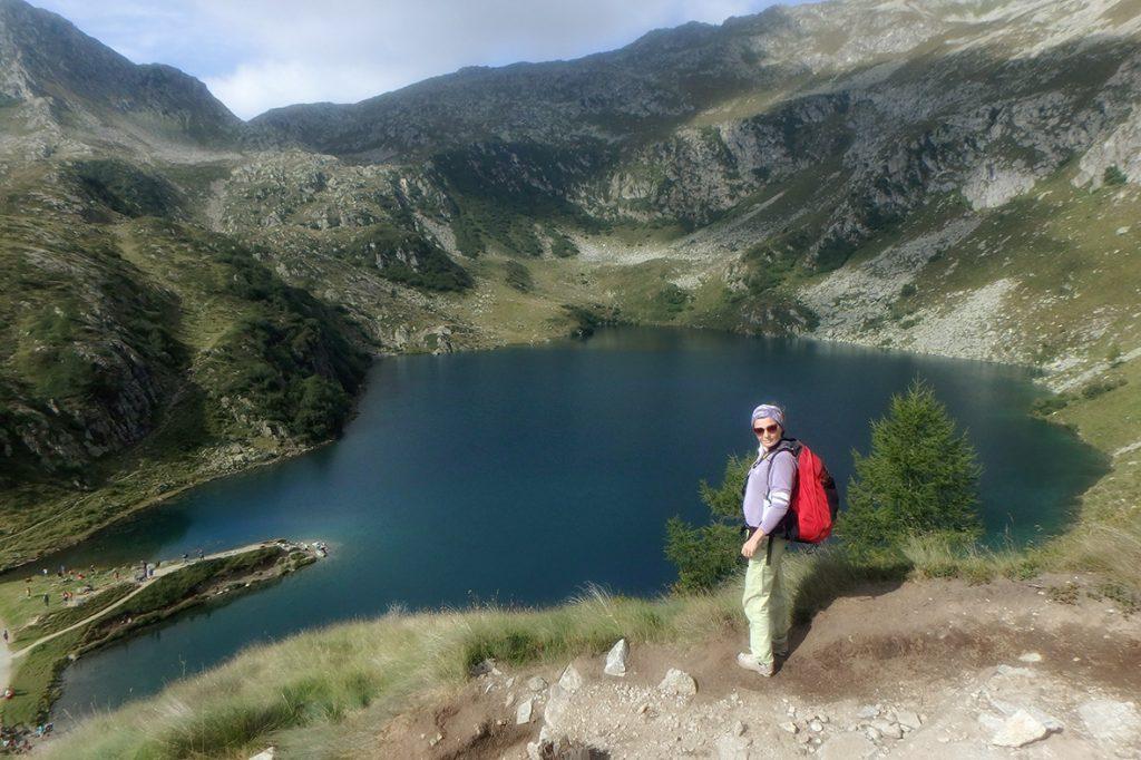 Il lago Ritorto dal sentiero per il Lambin