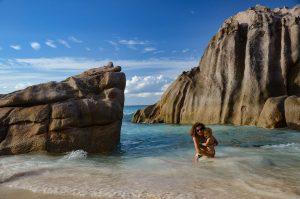 Anse Patate- La Digue - Seychelles con i bambini