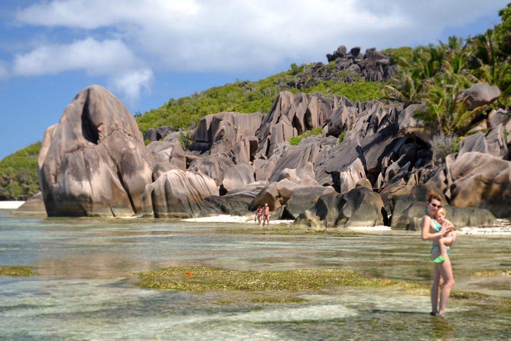 Anse Source d'Argent: fondali bassi e acque calde che i bambini adorano