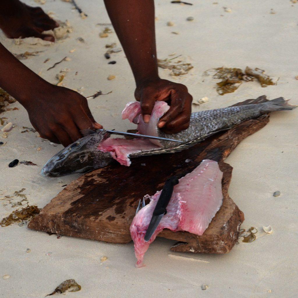 La migliore pescheria delle Seychelles. Ph. giorni Rubati