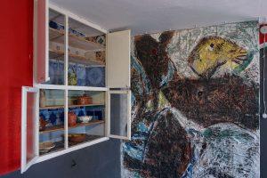 la cucina di Casa Jorn, dettaglio