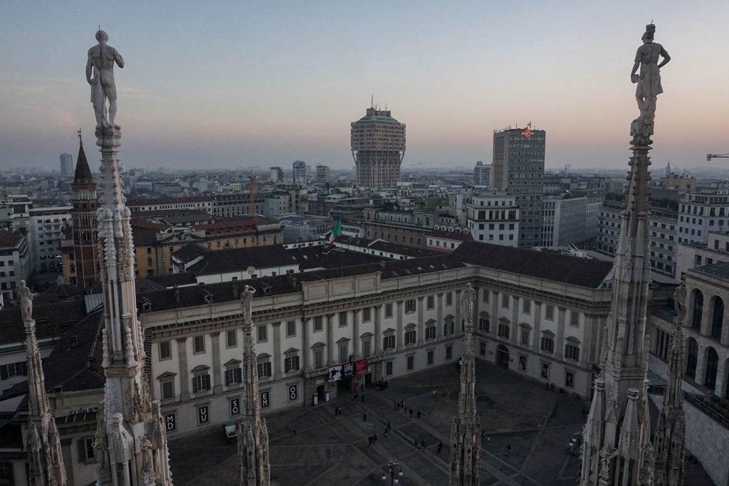 Panorama su palazzo reale dalle terrazze del Duomo