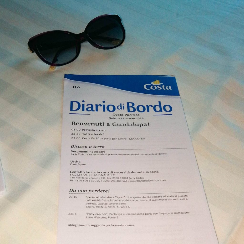 diario di bordo di Costa Pacifica in crociera ai Caraibi