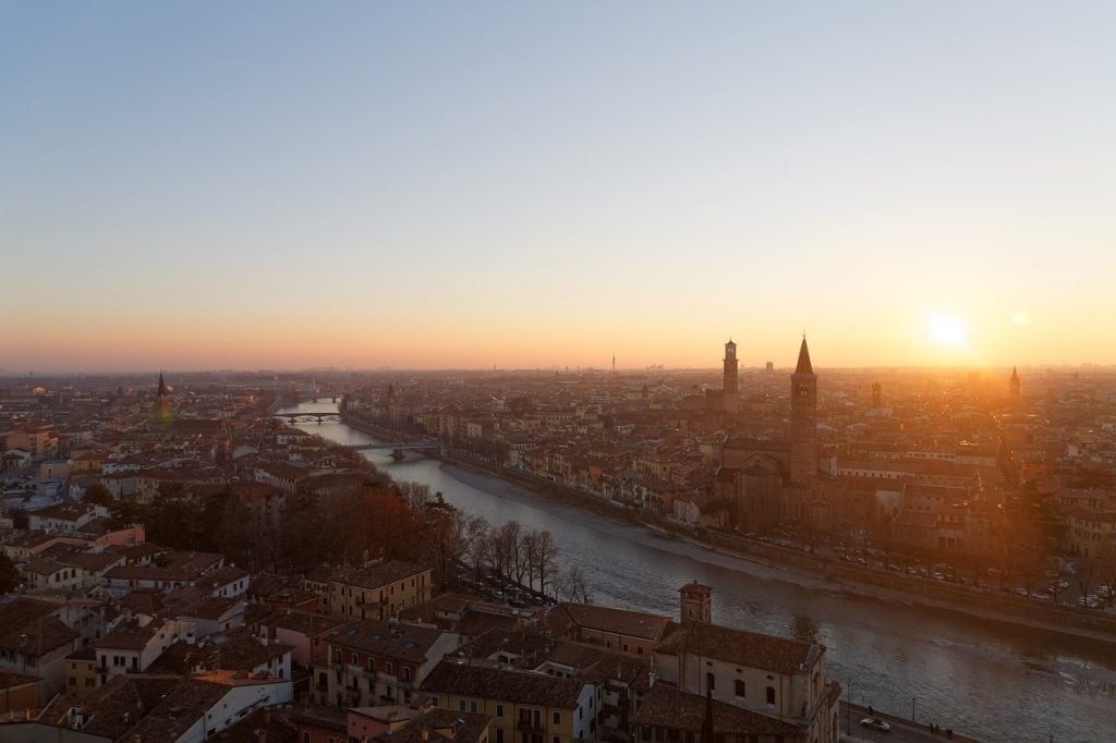 Tramonto su Verona